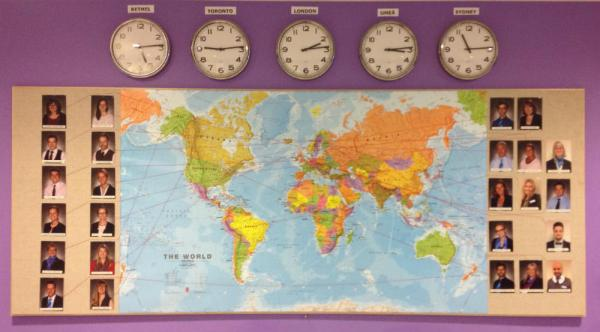 IESU Staff Map and Time Zones